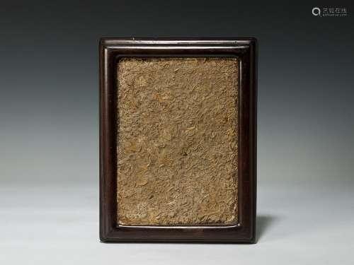 化石木挂屏