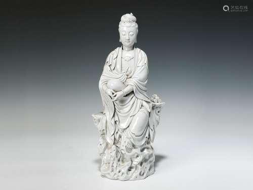 18世纪 德化白瓷观音座像
