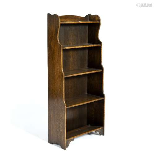 Oak open bookcase 19th Century, fitted with five shelves, 53.5cm across x 118cm high