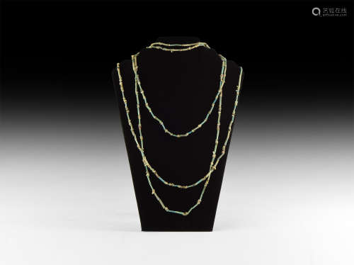 Egyptian Mummy Bead Necklace Group