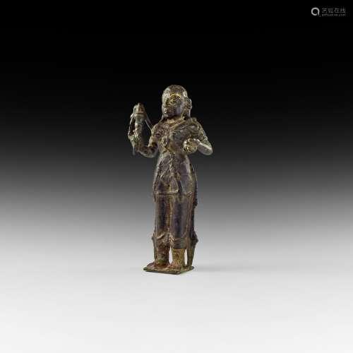 Indian Bhudevi Goddess Statuette