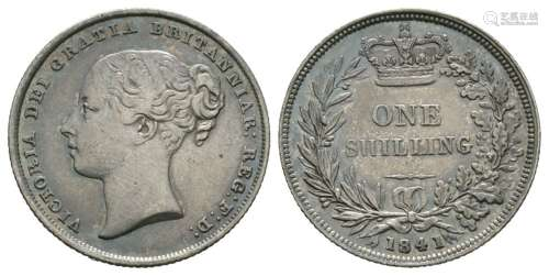 English Milled Coins - Victoria - 1841 - Shilling