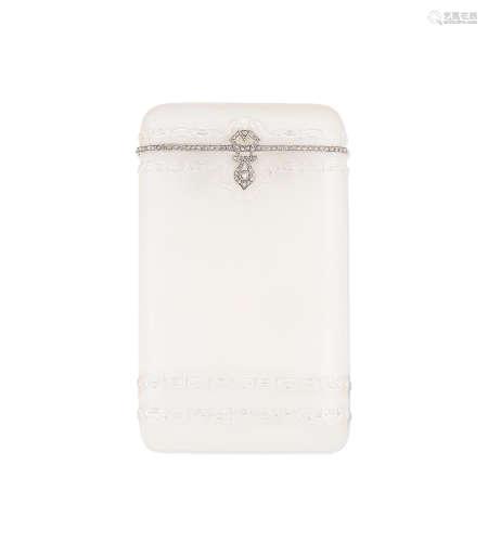 An Art Deco rock crystal and diamond cigarette case, circa 1920