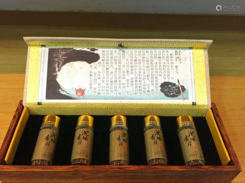 沉香烟丝礼盒5瓶装