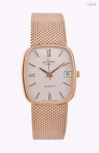 Rotary, 9 carat gold bracelet watch