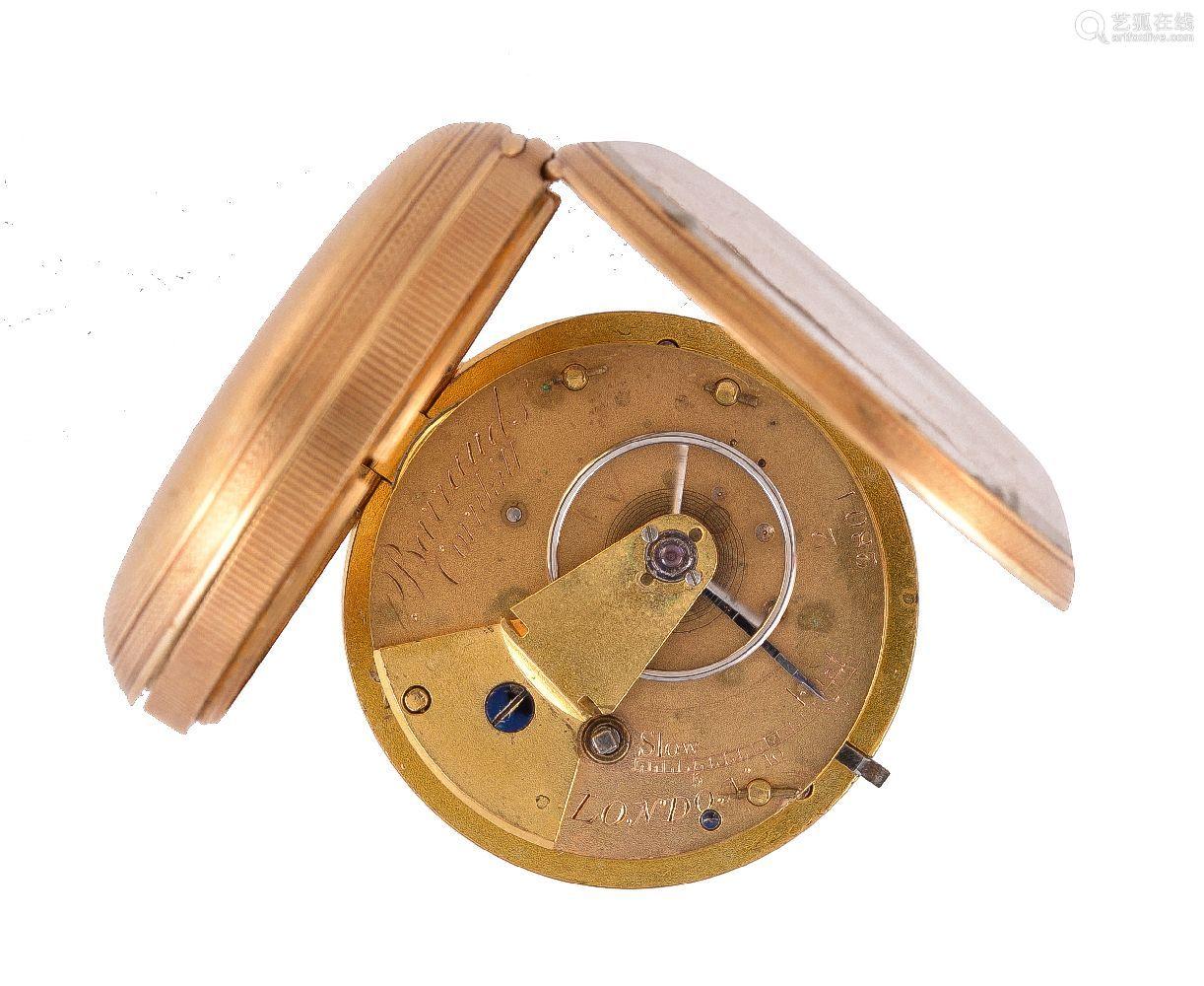 Barraud, London,18 carat gold pocket watch