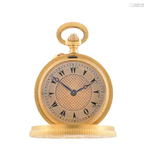 Unsigned,Gold coloured 'coin style' keyless wind watch