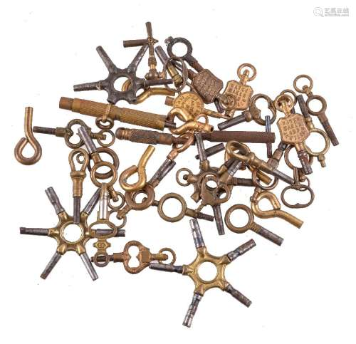 A collection of watch keys