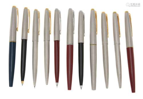 Parker, 45, a collection of pens