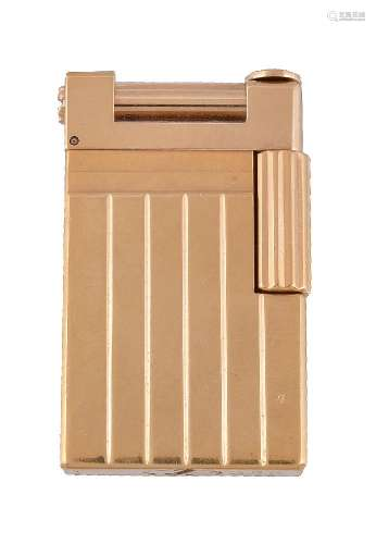 S. T. Dupont, Urban Line, a gilt metal lighter
