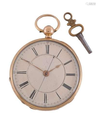 J. H. Hayes, 18 carat gold open face pocket watch