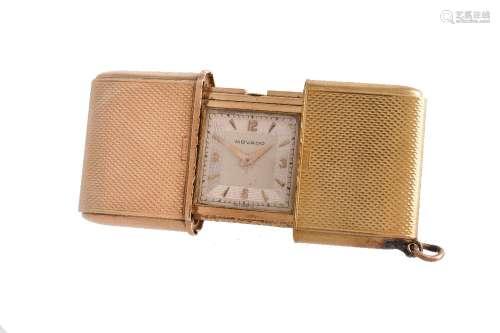 Movado, Gold coloured purse watch