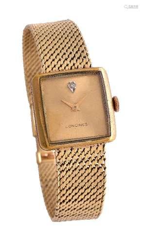 Longines,Bi-metal bracelet watch