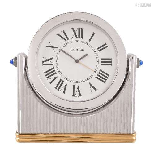 Cartier, Must de Cartier, Bi-colour desk clock