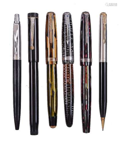 Parker, a collection of pens