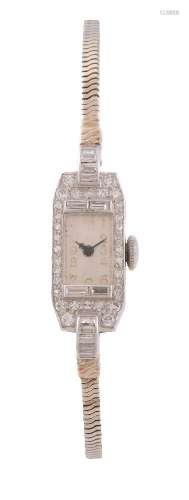 Unsigned,Lady's diamond set cocktail watch