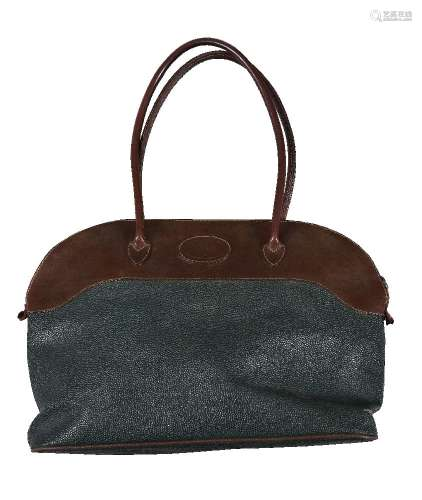 Mulberry, a green and brown leather handbag