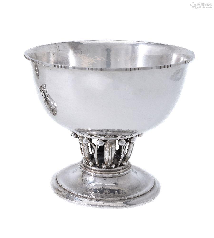 Georg Jensen, a Danish silver Louvre bowl