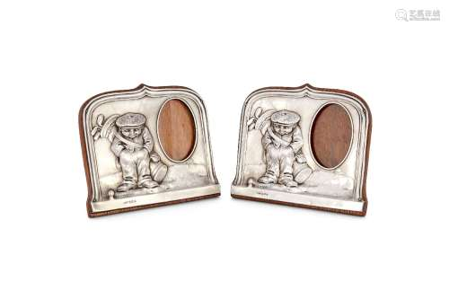 [Golfing interest] A pair of silver photograph frames by Henry Williamson Ltd