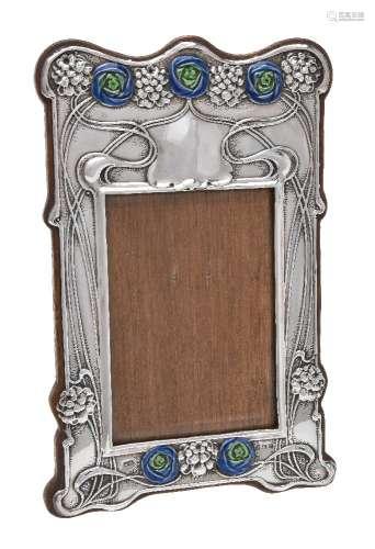 An Art Nouveau silver photograph frame by Horton & Allday