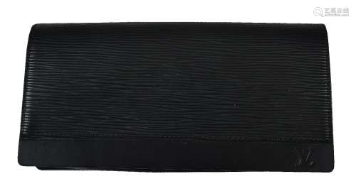 Louis Vuitton, Honfleur, a black Epi leather clutch bag