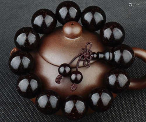 收藏级印度金星老料小叶紫檀手串紫檀2.0cm