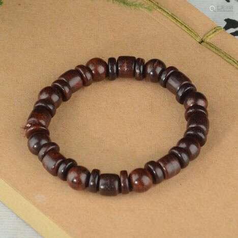 印度小叶紫檀手串0.8cm三宝珠