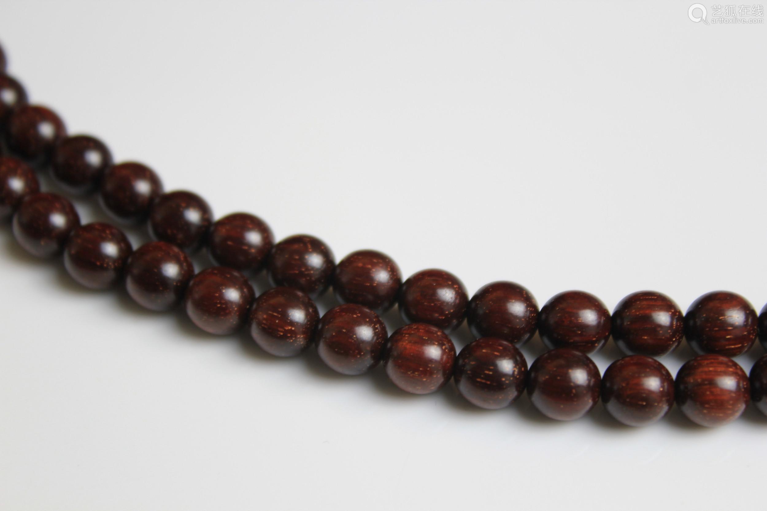 印度小叶紫檀金星手串紫檀0.8cm108颗