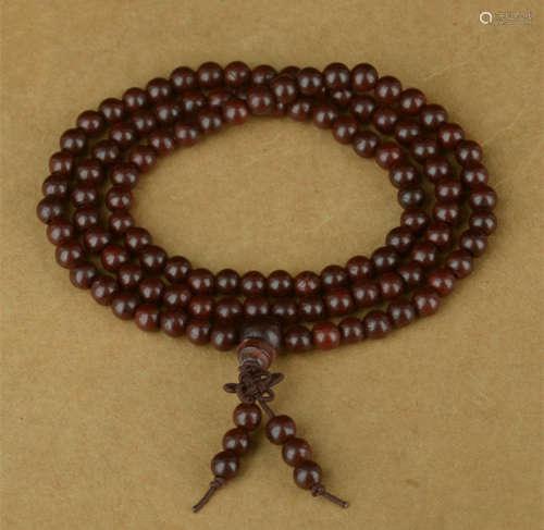 印度小叶紫檀手串金星紫檀0.5cm108颗