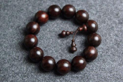印度老料金星小叶紫檀手串紫檀1.8cm
