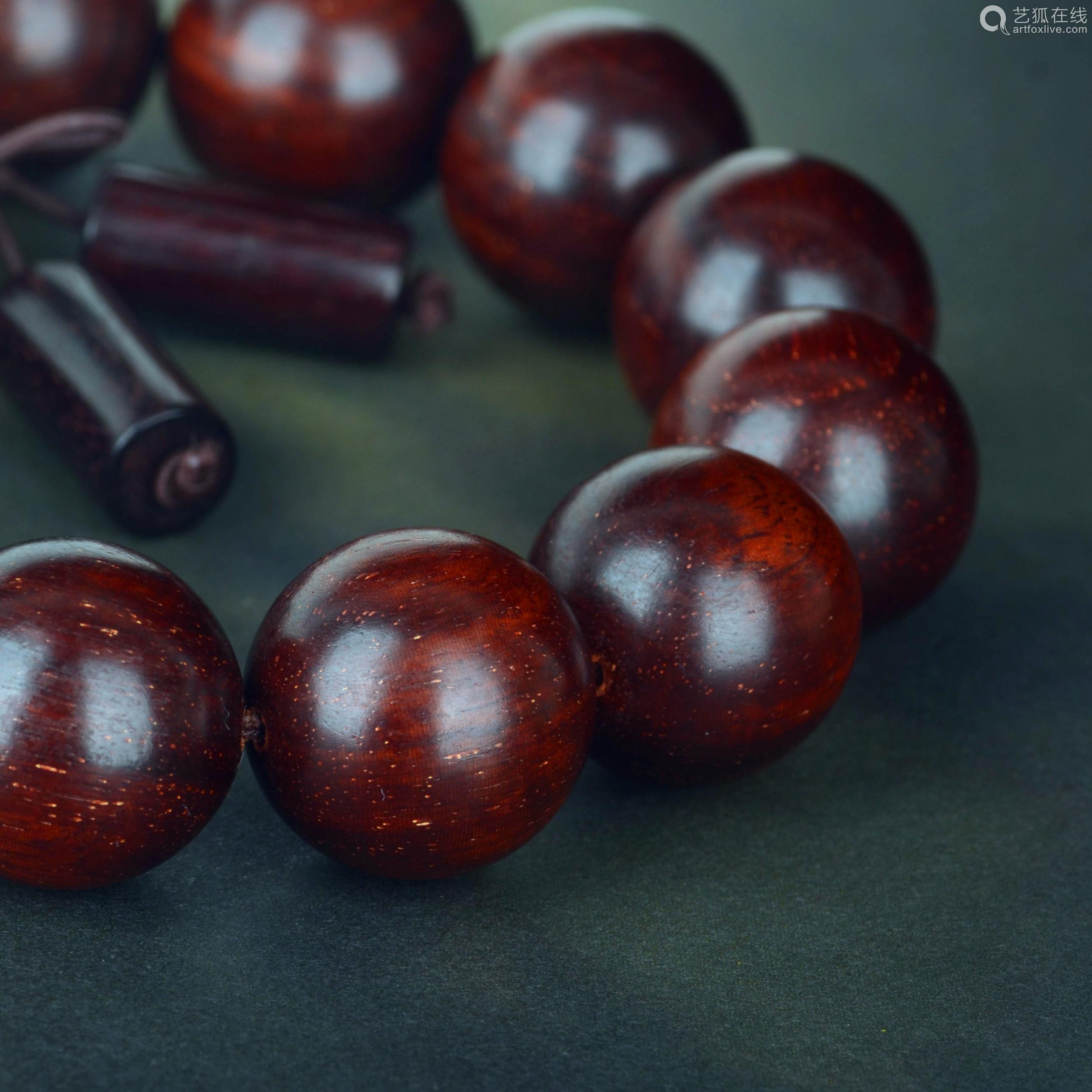 印度金星小叶紫檀手串紫檀1.8cm