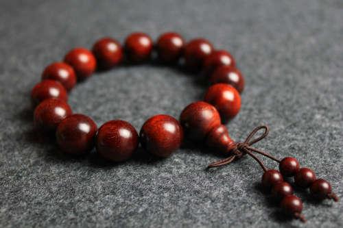 印度小叶紫檀金星手串紫檀1.5cm