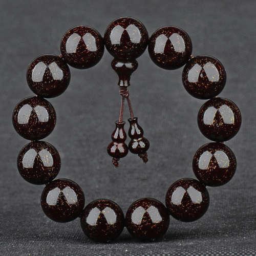 收藏级印度金星老料小叶紫檀手串紫檀1.8cm