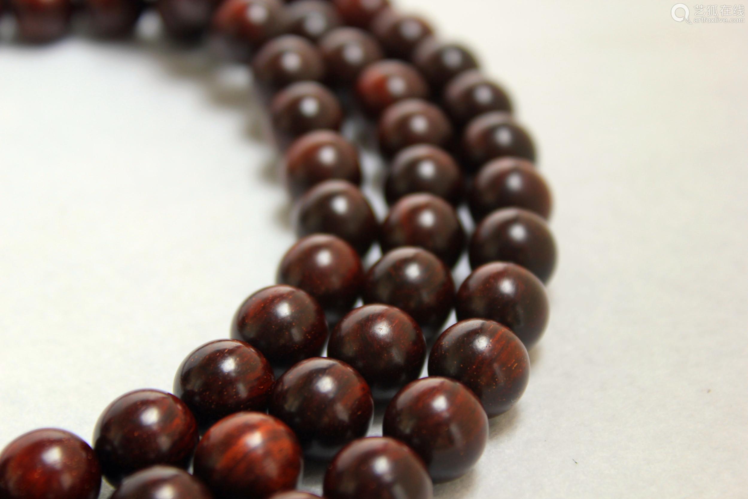 印度小叶紫檀金星手串紫檀1.2cm108颗