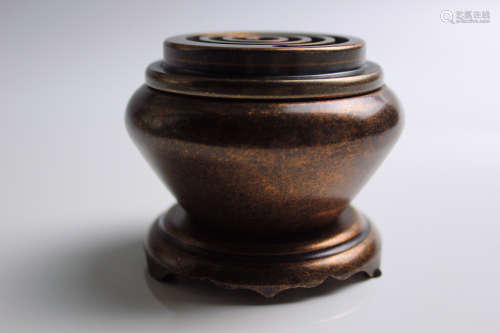 香篆炉铜炉香炉(配防火棉与越南沉香盘香)