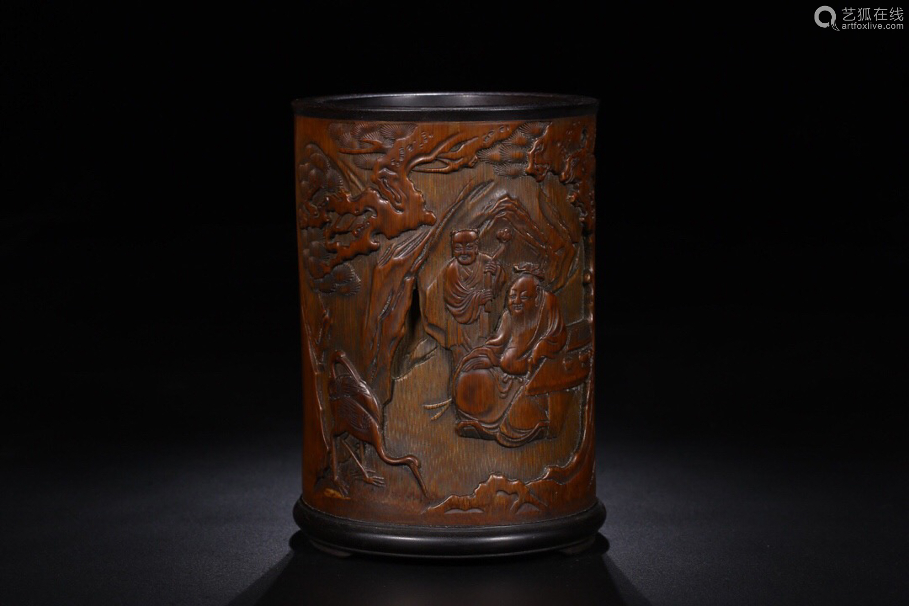 17-19TH CENTURY, A STORY DESIGN BAMBOO BRUSH CONTAINER, QING DYNASTY