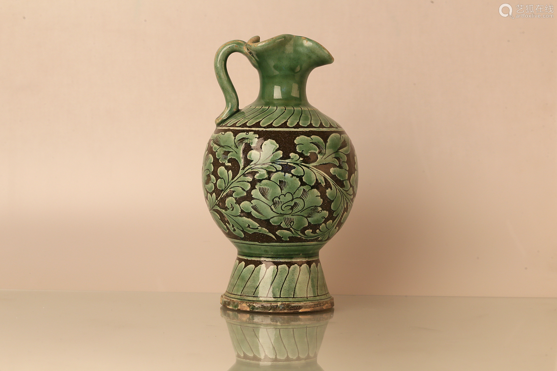 10-11TH CENTURY, A PEONY PATTERN FLOWER MOUTH VASE, NORTHERN SONG DYNASTY