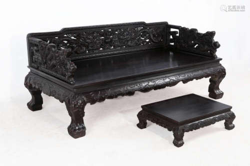A SET OF ROSEWOOD FURNITURE