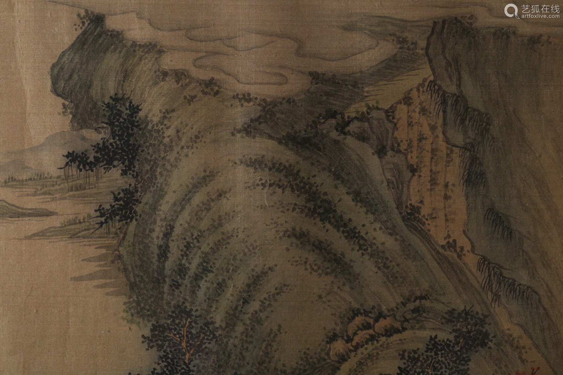 17-19TH CENTURY, A LANDSCAPE PAINTING, QING DYNASTY