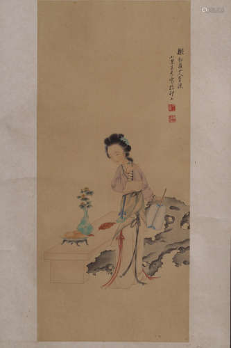 17-19TH CENTURY, A SU WANG CHARACTER PAINTING, QING DYNASTY