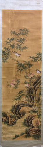 17-19TH CENTURY, UNKNOW <ZHU SHI MA QUE> PAINTING, QING DYNASTY