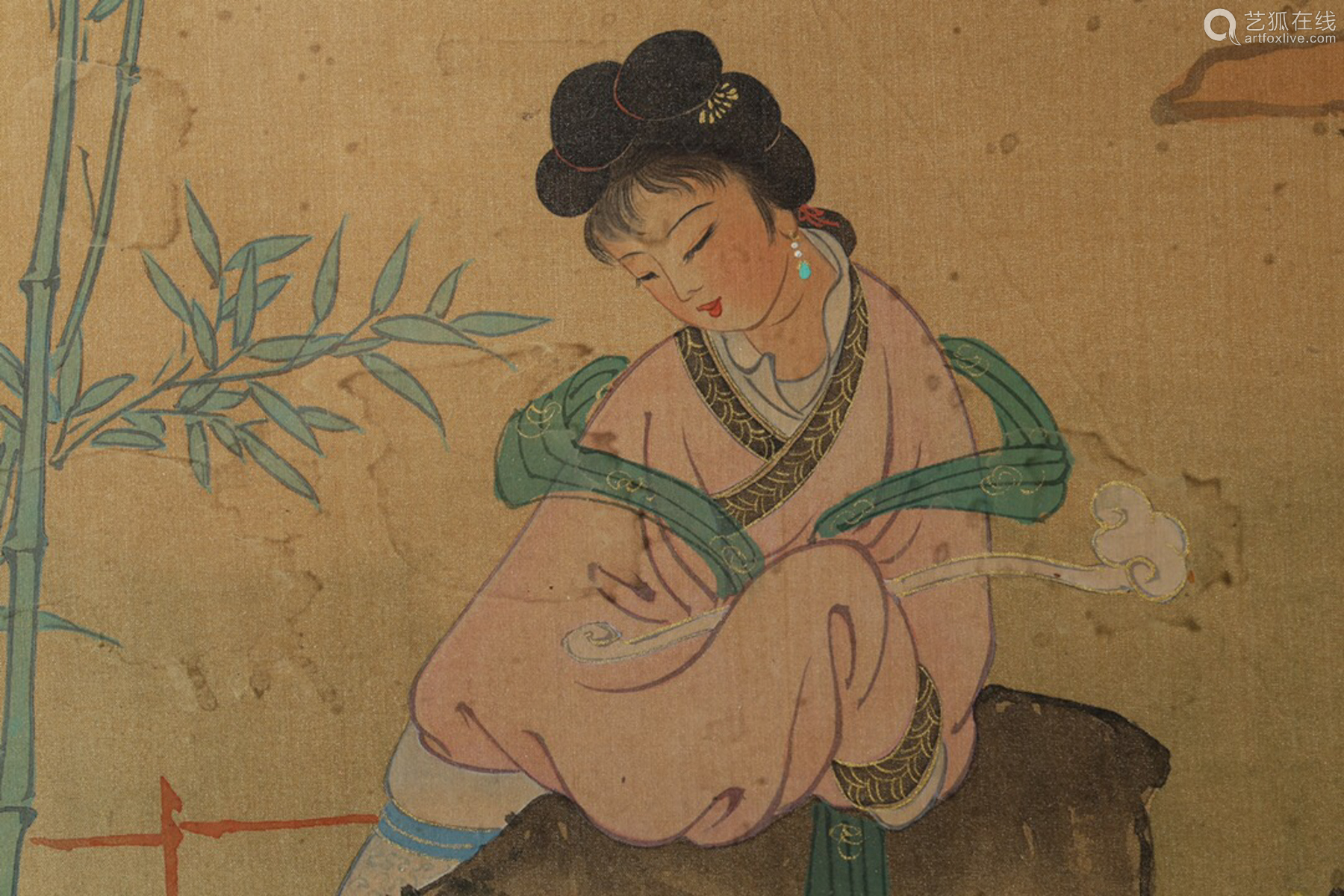 17-20TH CENTURY, A CHARACTER PAINTING , QING DYNASTY