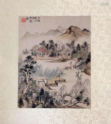 17-19TH CENTURY, XIN LUO SHAN REN YAN HUA <SHAN SHUI CE YE 11> PAINTING, QING DYNASTY