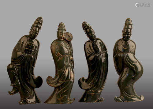 10-12TH CENTURY, A SET OF JADE ORNAMENTS, SONG DYNASTY