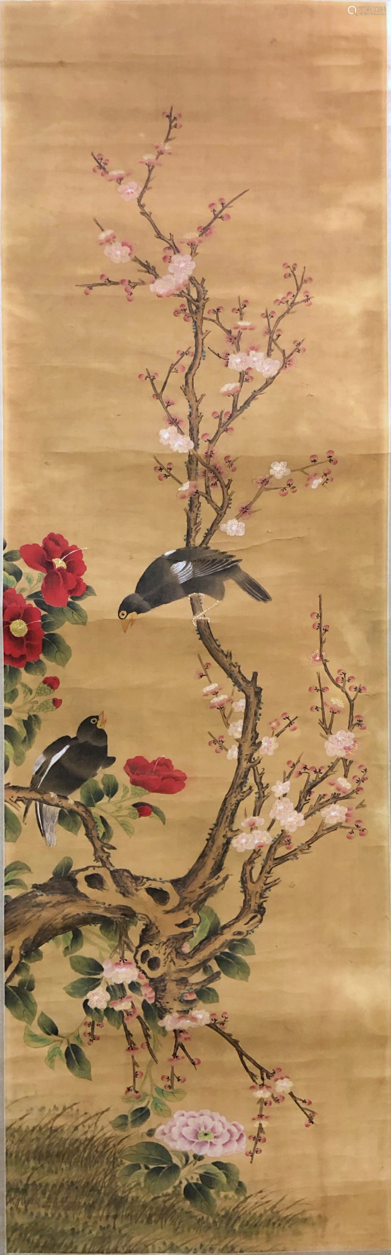 17-19TH CENTURY, UNKNOW <MEI HUA BA GE> PAINTING, QING DYNASTY