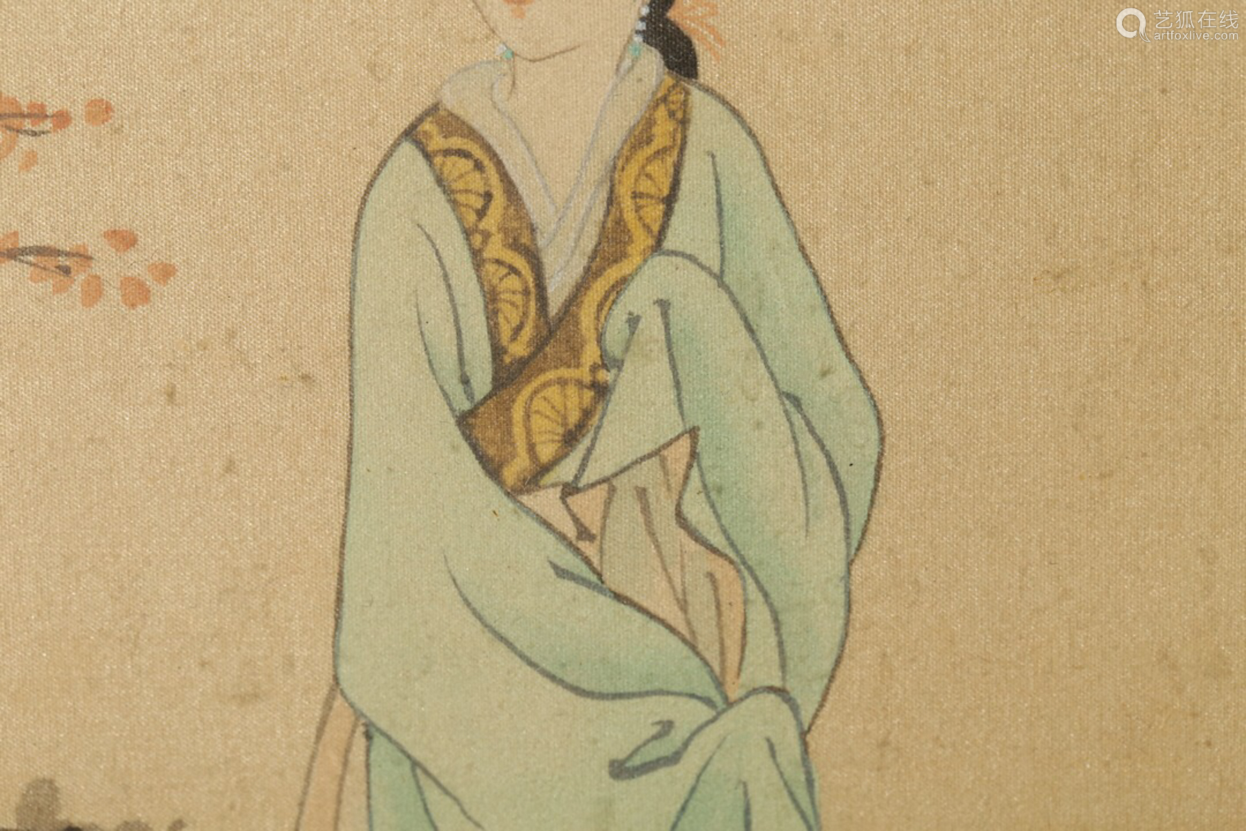 17-19TH CENTURY, A CHARACTER PAINTING , QING DYNASTY