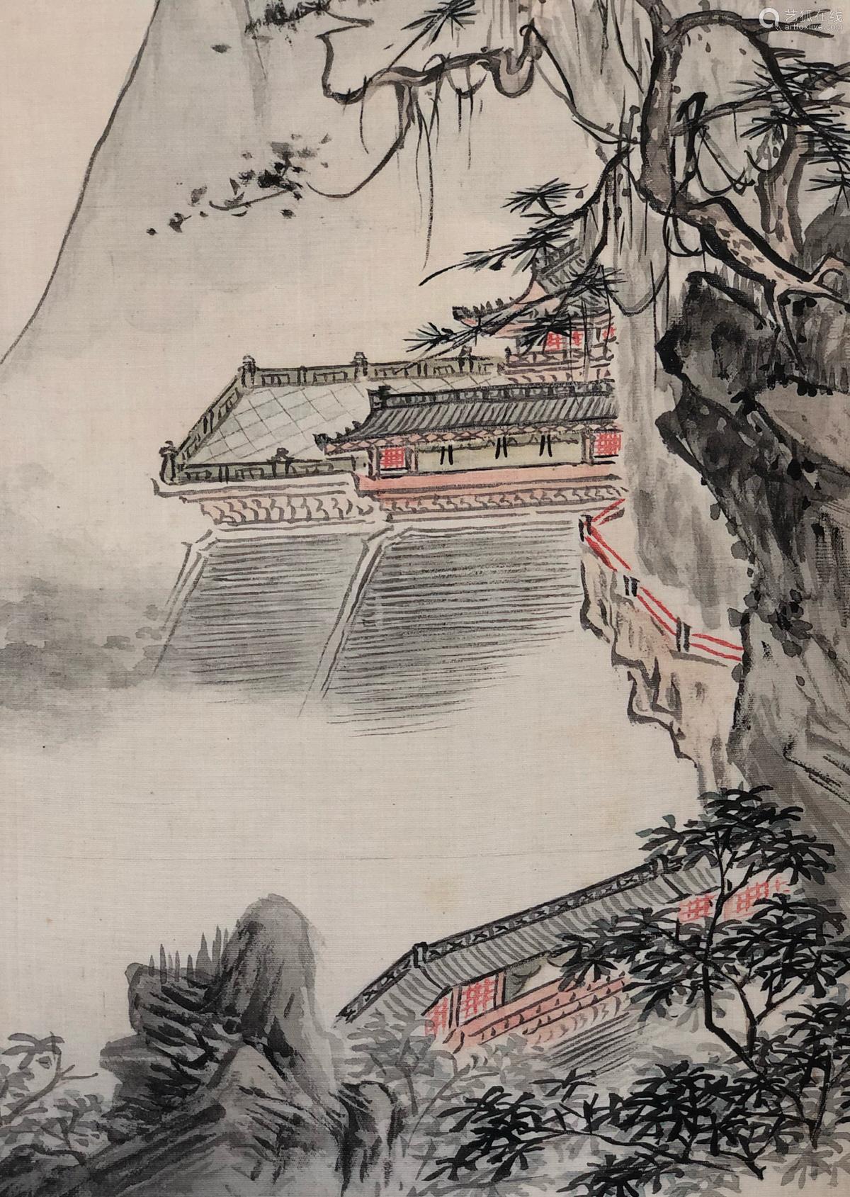 17-19TH CENTURY, XIN LUO SHAN REN YAN HUA <SHAN SHUI CE YE 12> PAINTING, QING DYNASTY