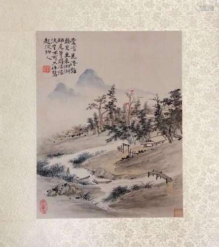 17-19TH CENTURY, XIN LUO SHAN REN YAN HUA <SHAN SHUI CE YE 9> PAINTING, QING DYNASTY