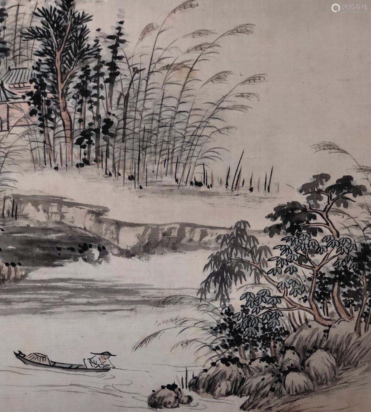 17-19TH CENTURY, XIN LUO SHAN REN YAN HUA <SHAN SHUI CE YE 8> PAINTING, QING DYNASTY