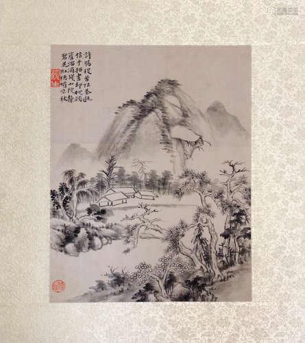 17-19TH CENTURY, XIN LUO SHAN REN YAN HUA <SHAN SHUI CE YE 10> PAINTING, QING DYNASTY